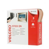 VELCRO® Brand Stick On Tape - 20mm x 10m Beige
